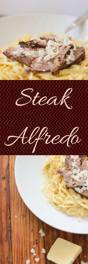 Steak Alfredo Pasta - My Family Mealtime