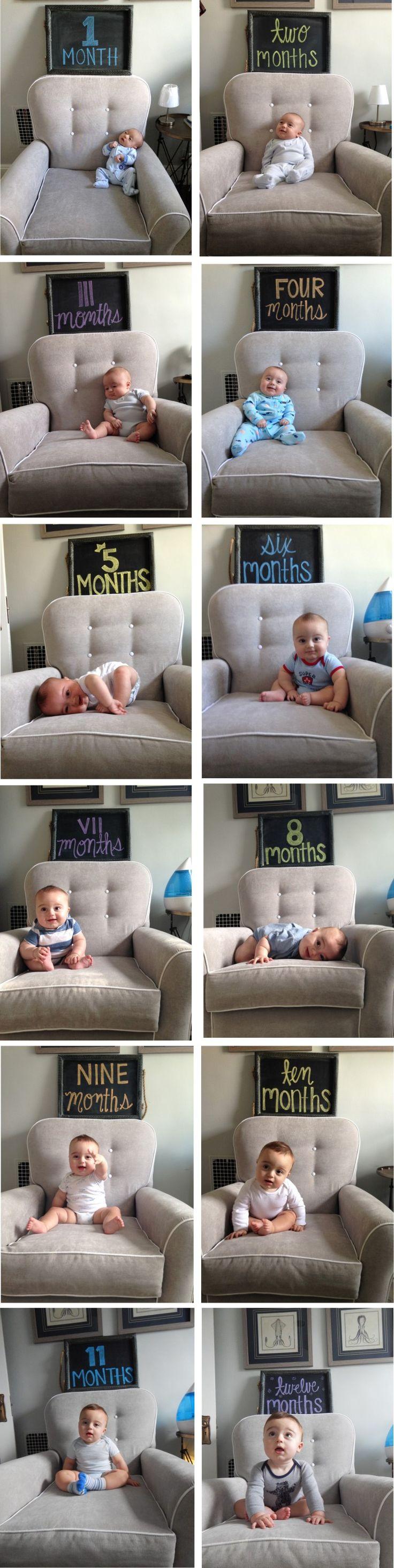 Baby chalkboard monthly milestone marker {a little diy}