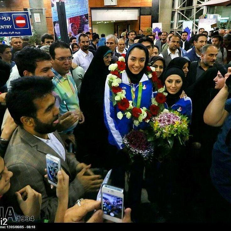 @Regrann from @vtofighi2 -  Iran: Countrys first female Olympic medal winner given heros welcome in Tehran photo by #Mehdiebrahimi #Iran: Countrys first #female #Olympic medal #winner given #heros #welcome in #Tehran. Iran's #Kimia.Alizadeh.official #bronze #medal #taekwondo #winner arrives at Tehran International airport Iran بازگشت تیم ملی تکواندو از المپیک برزیل ایرنا-تهران- تیم ملی تکواندو کشورمان در المپیک 2016 ریو بامداد جمعه در میان استقبال مردم به کشور بازگشت. شهريور 1395 8:24 عکس…