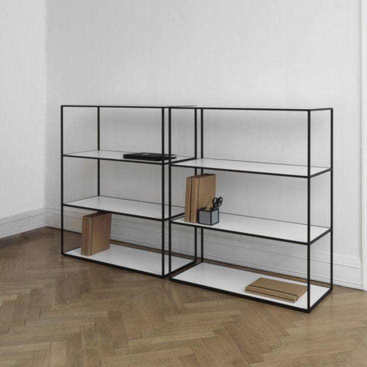 Decorate your home with beautiful City Lassen shelving. Twin shelf in black is available in two sizes …   – Indretning