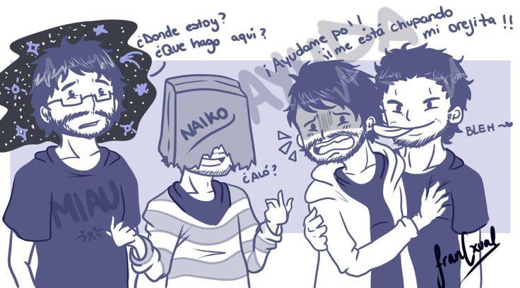 Edgar, Naiko, Nico y Jaime [GOTH]   by FranCxual