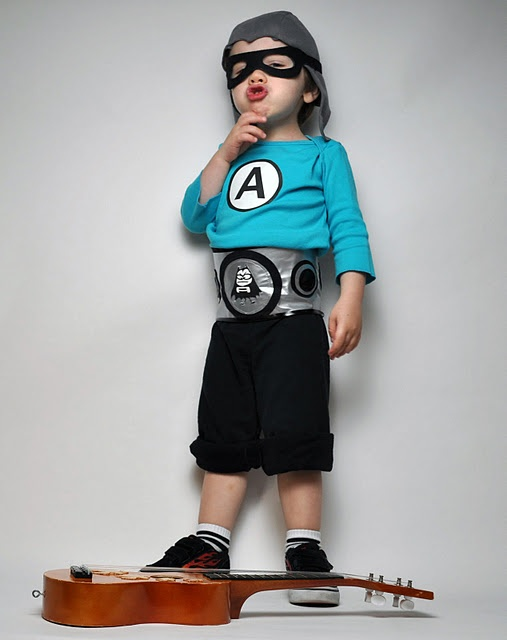 Sawyer's Halloween Costume- Aquabat Boy #aquabats #party #costume