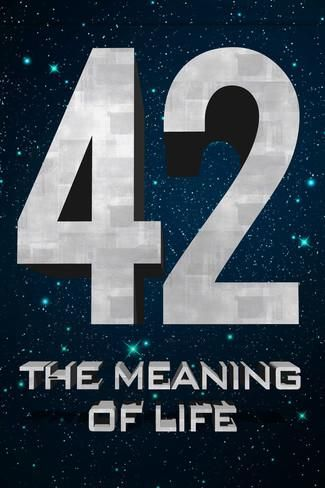 42 The Meaning of Life Plastic Sign Plastikschild bei AllPosters.de