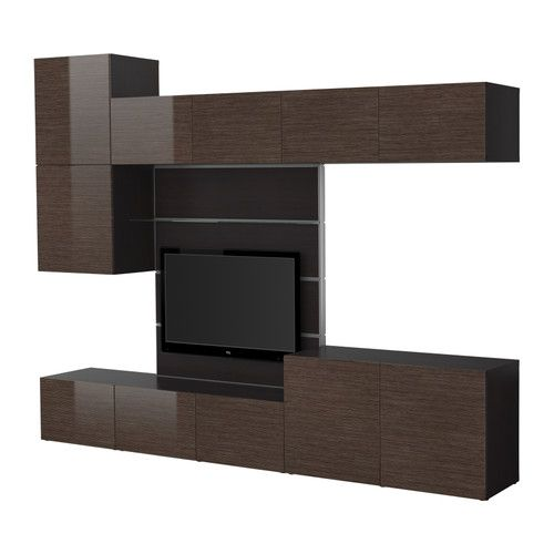 BESTÅ/FRAMSTÅ TV storage combination - IKEA.  Use for a more modern dining room wall unit (without the tv bit in the middle).