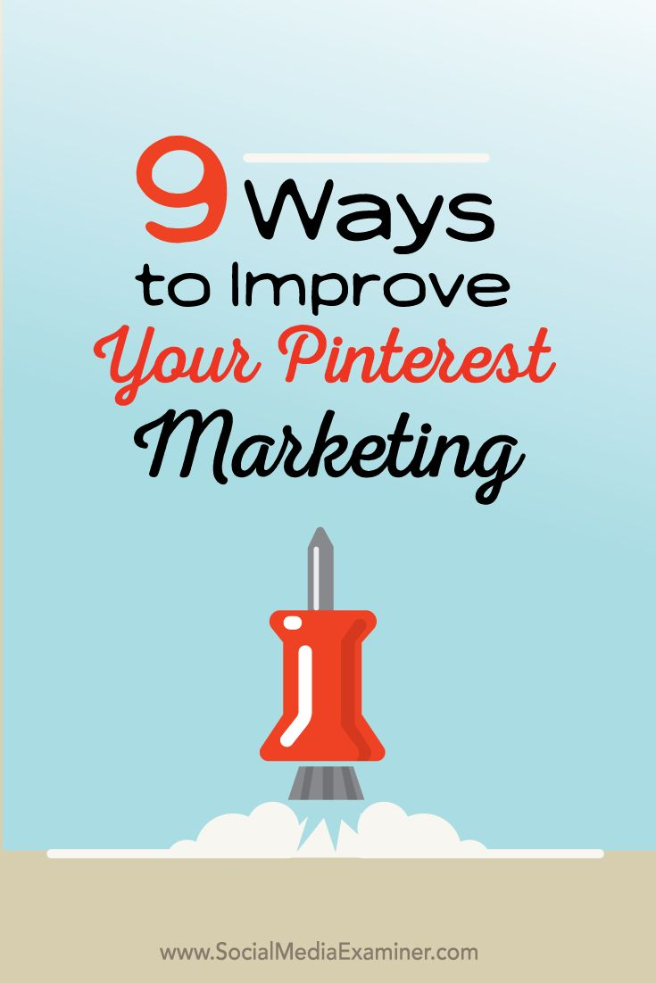 Does your business use Pinterest? Want to get more exposure and engagement for your pins? Marketing on Pinterest is an excellent way to showcase your business, engage current and potential customers and boost your bottom line. In this article Julia McCoy shares nine ways to improve your Pinterest marketing. | via @borntobesocial