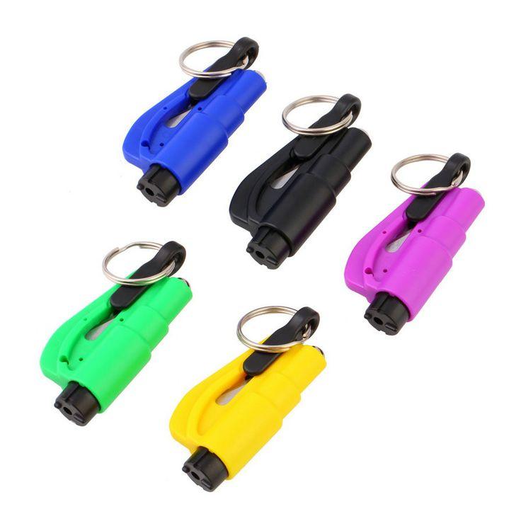 1PC Emergency Mini Safety Hammer Auto Car Window Glass Breaker Seat Belt Cutter Rescue Hammer Car Life-saving Escape Tool