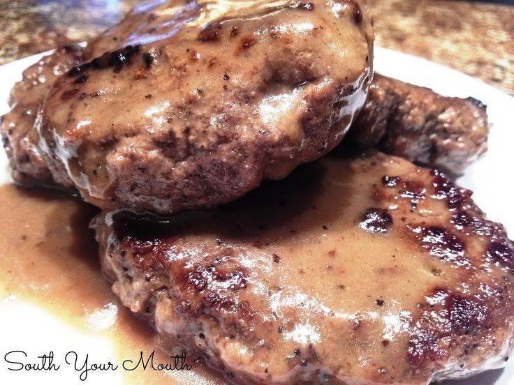 South Your Mouth: Hamburger Steaks with Brown Gravy
