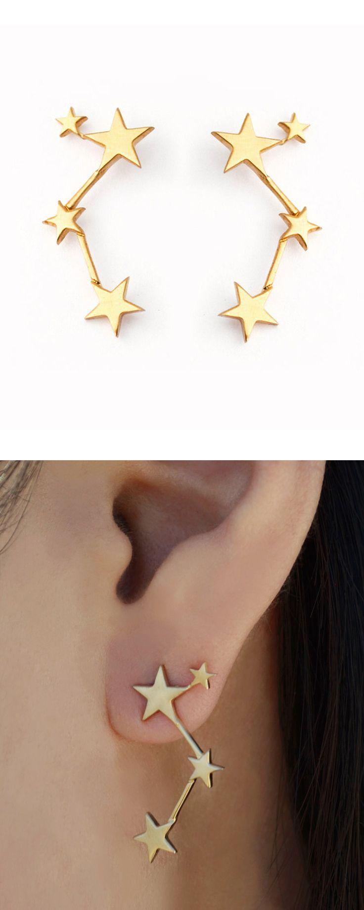 Star constellation earrings                                                                                                                                                                                 Más