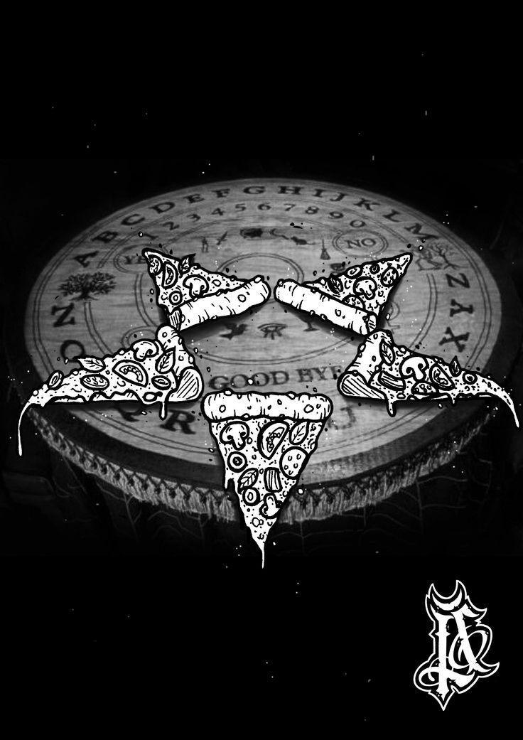 #sinketattoo #sinke #pizza #satanpizza #art #black #darkart #satanism #flashtattoo #tattoo