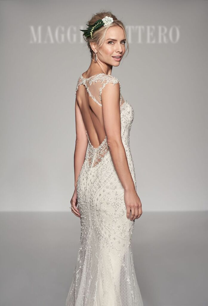 Vintage inspired cap sleeve wedding dress from @maggiesottero