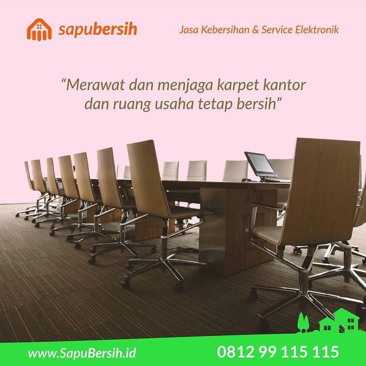 Selalu pastikan karpet kantor anda dalam keadaan bersih. Anda bisa atur jadwal pengerjaan bersama @sapubersih.id