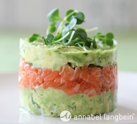 Salmon-Avocado Towers - Beautiful and sounds delicious.