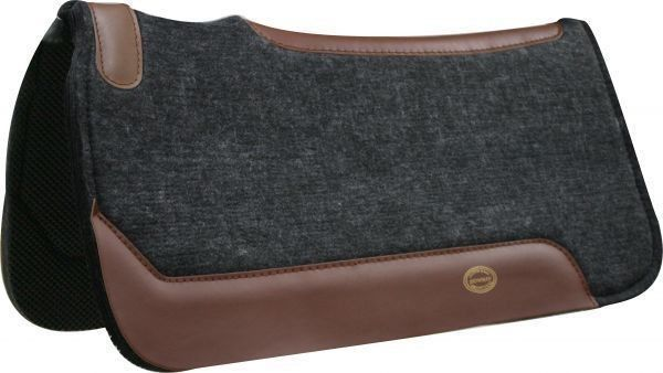 Saddle Pads 47308: Showman 32X32 Felt Western Saddle Pad With Wear Leathers! New Horse Tack!! BUY IT NOW ONLY: $62.5