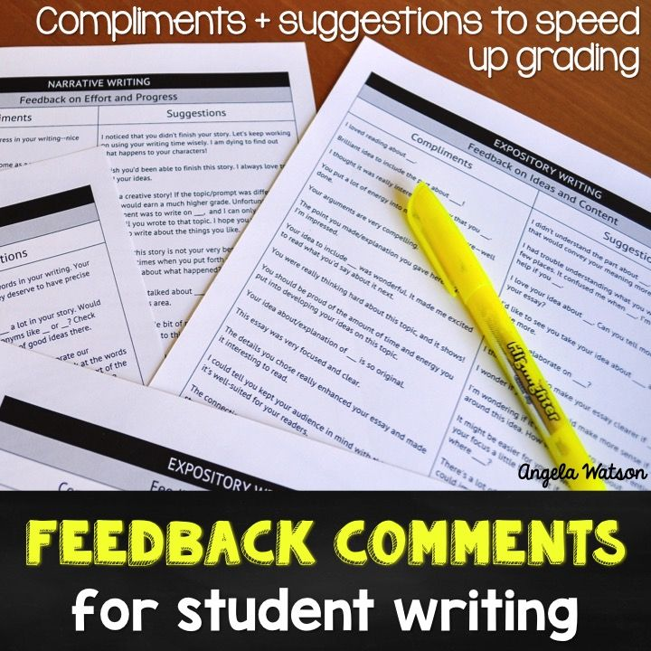 essay comments for students Improving student writing through comments by julia they give on drafts with the comments they give on final papers as you write comments on drafts and.