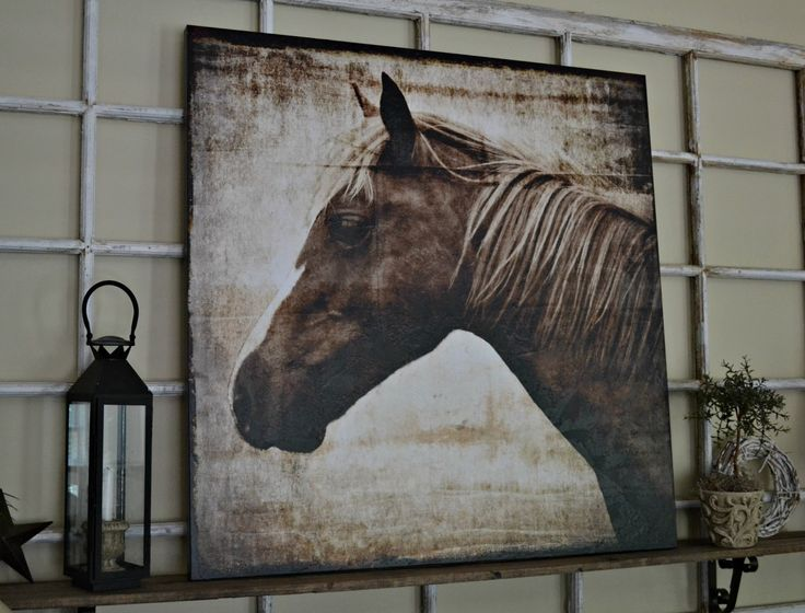 Down To Earth Style New Canvas Art A Horse Outdoors