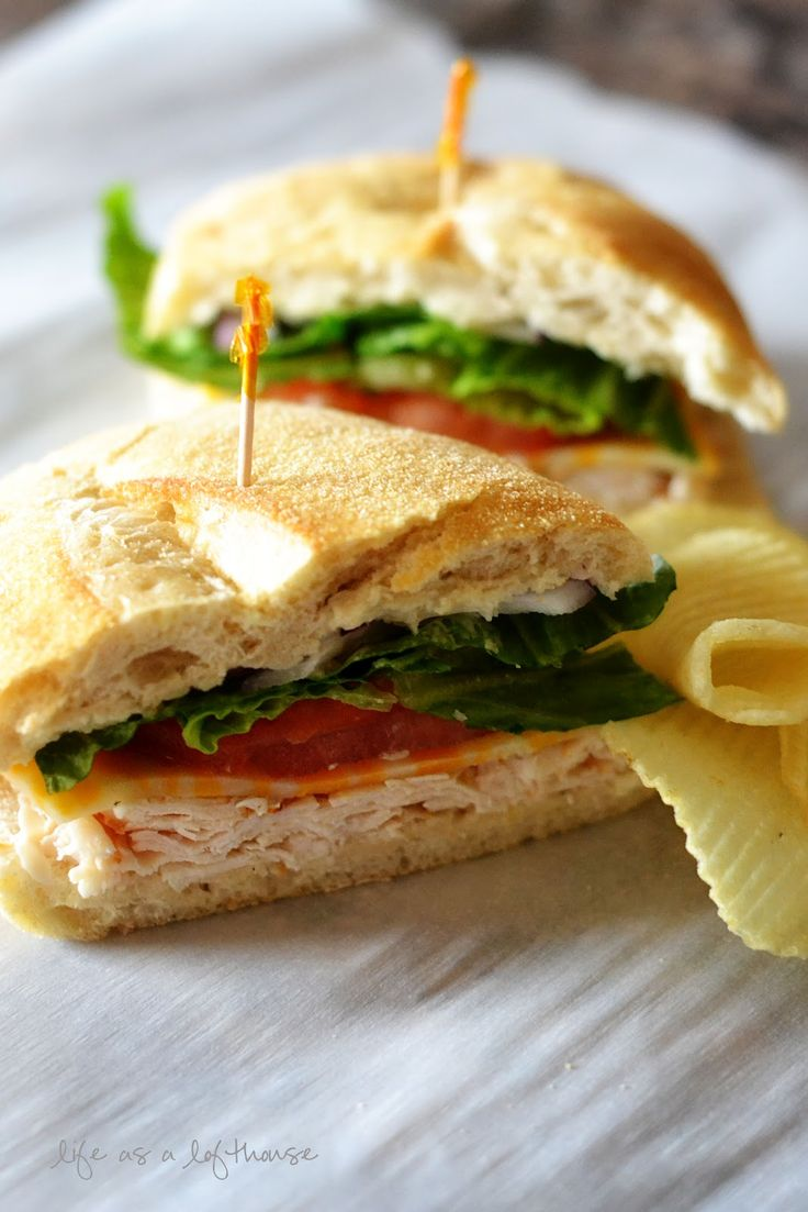 Chicken Caesar Sandwiches - Very simple sandwich that doesn't really require a recipe.  The combo of Caesar dressing, chicken, and nice bread made it much better than boring cold cuts. (av)