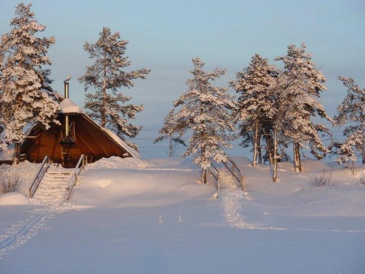 Frozen lake Saimaa