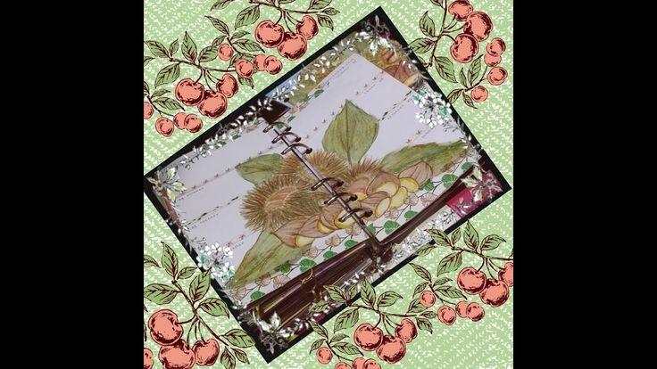 plan with me,decorazione tema castagne