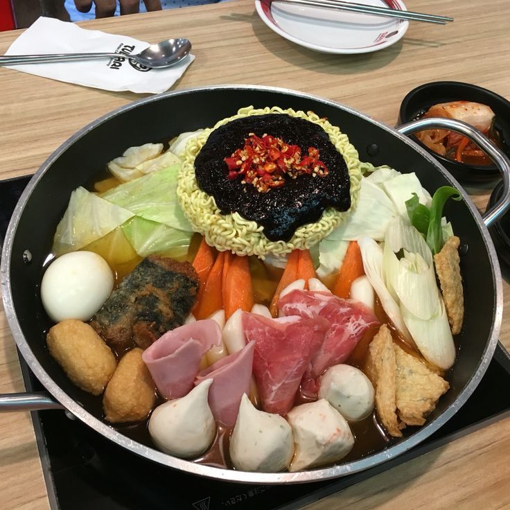 Do it Korean style - shared pan of noodles