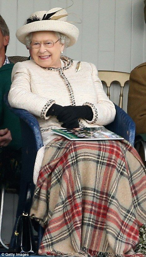 The Queen in high spirits watching traditional Scottish sports at Braemar Highland Games alongside Princes Philip and Charles  Read more: http://www.dailymail.co.uk/news/article-2746203/Queen-high-spirits-watching-traditional-Scottish-eventing-Braemar-Highland-Games-alongside-Princes-Philip-Charles.html#ixzz3CYhgwe48 Follow us: @MailOnline on Twitter   DailyMail on Facebook