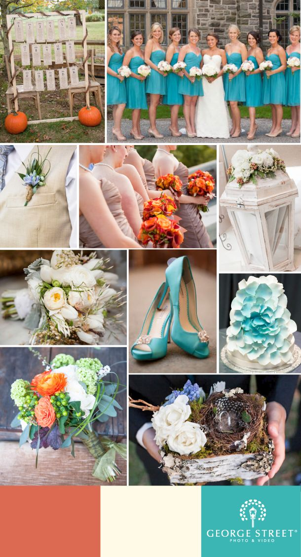A Perfect Fall Color Wedding Palette