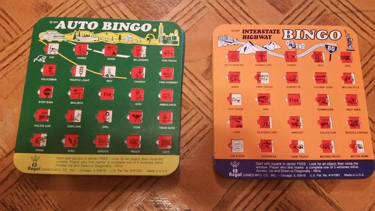 ~LOT 4 Travel Bingo Game Cards Interstate Highway Road Trip Kids Truck Sign Set~ #RegalGames