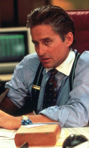 Michael Douglas - Wall Street.....great performance as Gordon Gecko. Hot and sexy too.
