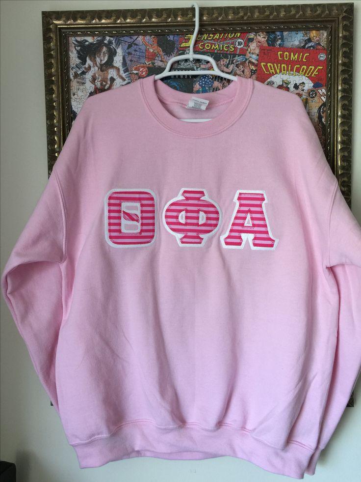 Super cute 😍 Mean girls inspired LOVE Greek letters #sorority #pink #greek #greekletters