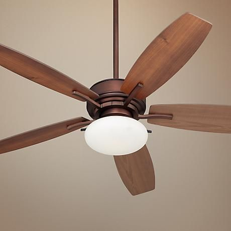 """52"""" Bellasario Oil-Brushed Bronze Ceiling Fan, on sale thru 2-21 for $199 at Lamps Plus"""