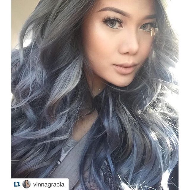 We're obsessing over this #haircolor using Ion Color Brilliance in Titanium