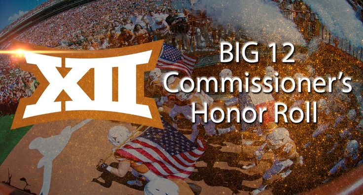 Big 12 Commissioner's Honor Roll graphic football