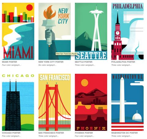 Travel Poster series by the Heads of State