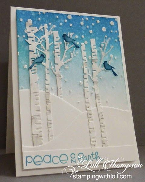 Peace on Earth card by Loll Thompson - Paper Smooches - Christmas Sampler