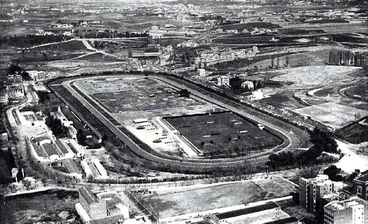 El antiguo Hipódromo de la Castellana situado desde 1878 hasta 1933 en los actuales Nuevos Ministerios