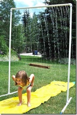 pvc pipe sprinkler hello summer!