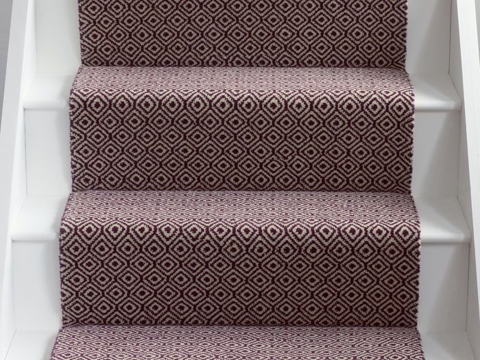 Quirky Tess Damson Runner | Alternative Flooring - carpets, rugs and runners in exciting new designs