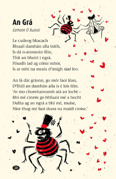 children's poems to sharpen your reading skills (or vocal skills) in Irish.