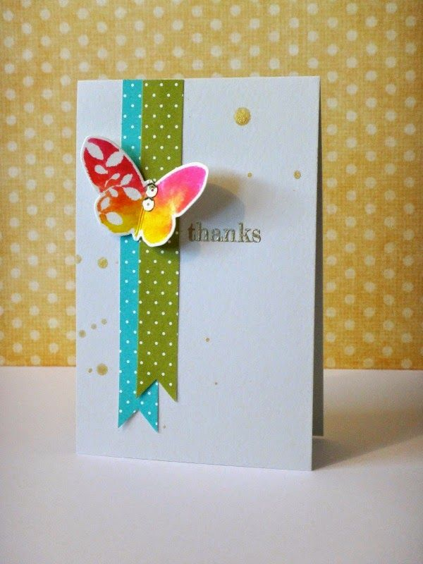 Gorgeous Butterfly Card Created by Donna Mikasa using Simon Says Stamp Exclusives.  September 2014