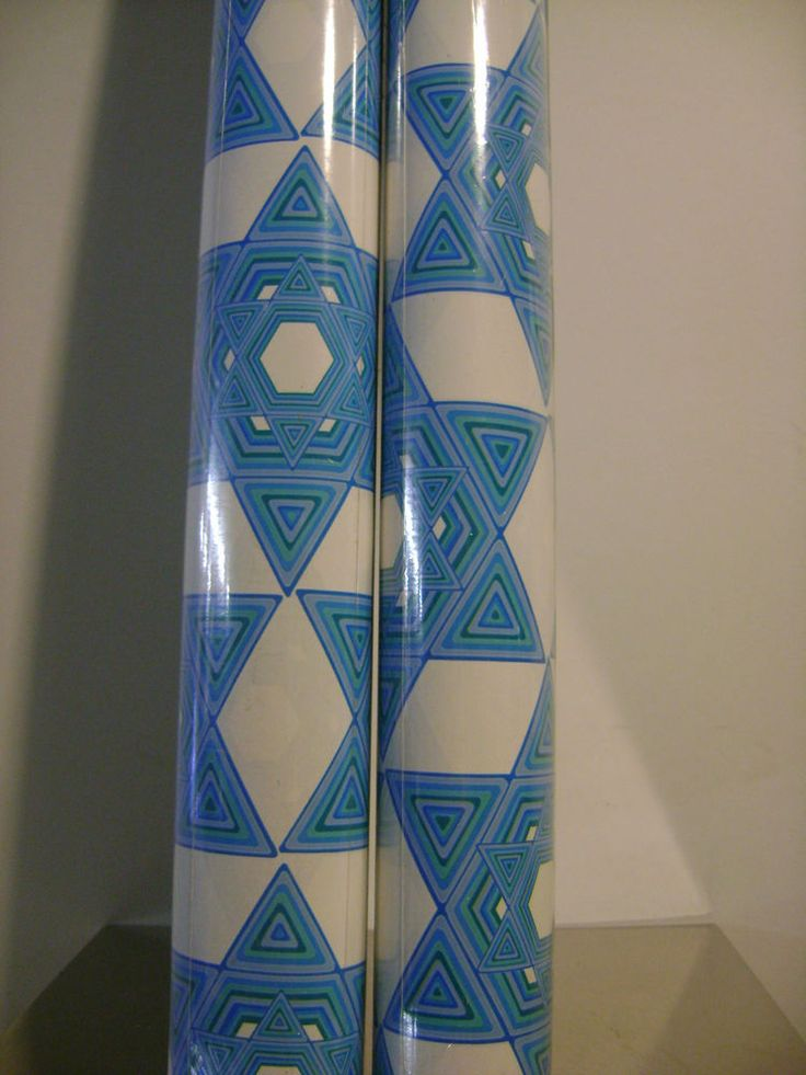 HANUKKAH BLUE & WHITE COLOR STAR OF DAVID HOLIDAY GIFT WRAP PAPER SET 2 ROLLS #PAPYRUS #Hannukah