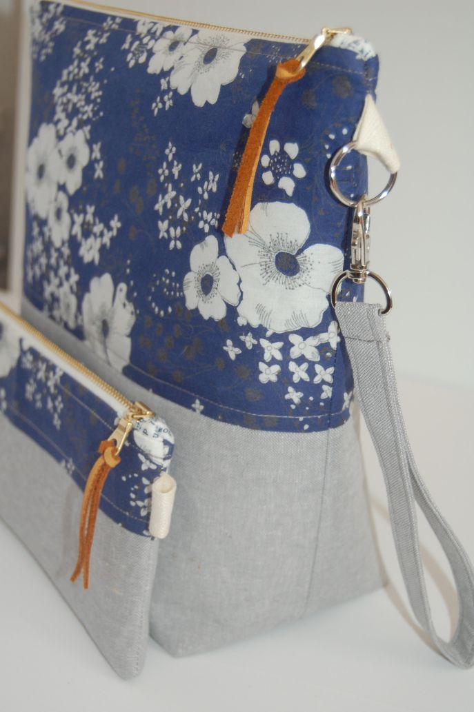 project bags- blooming poppies would be great with leather and sequin