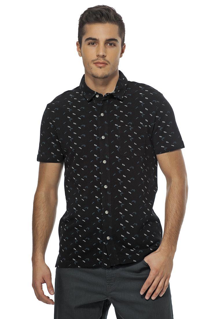 Printed Pique shirt