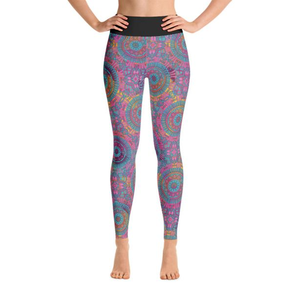 Purple Colorful Yoga Leggings With Swirl Pattern //99$ & FREE Shipping //     #yoga