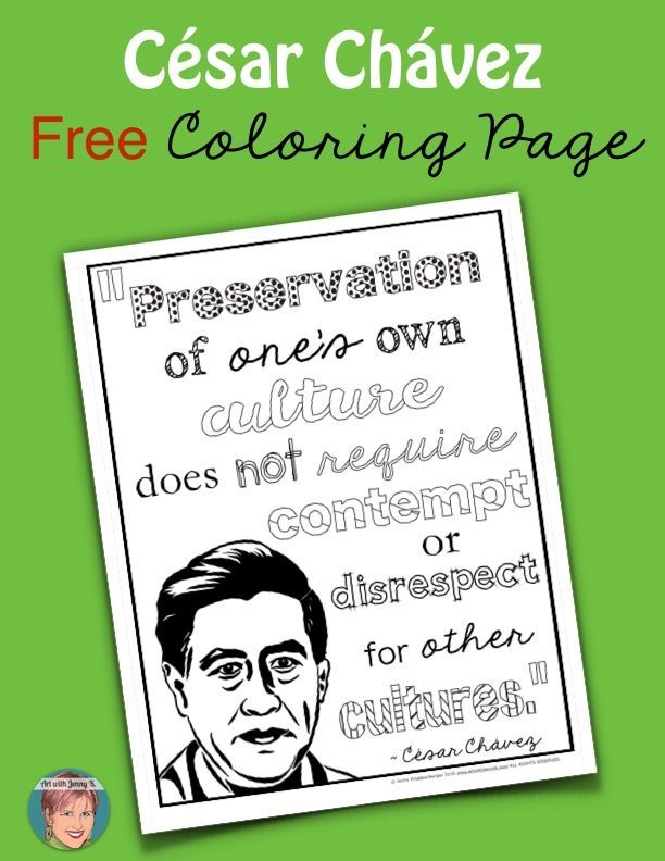 Cesar Chavez Art Project Quote Coloring Pages Cesar Chavez