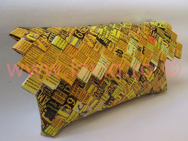 Geanta Eco Scris galben negru clapa dreptunghi