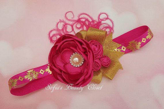 Diadema de oro rosa. Diademas de niñas. por SofiasBeautyCloset