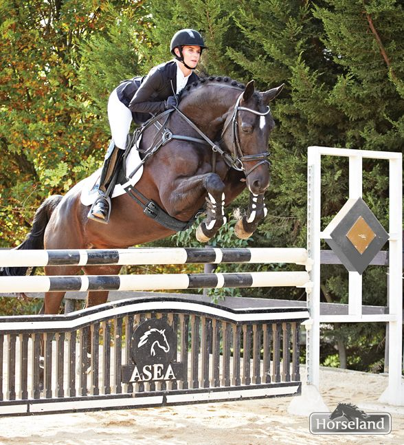 Sponsored rider Cassie Lowe wears the Spooks Leena Show jacket RRP $399.95