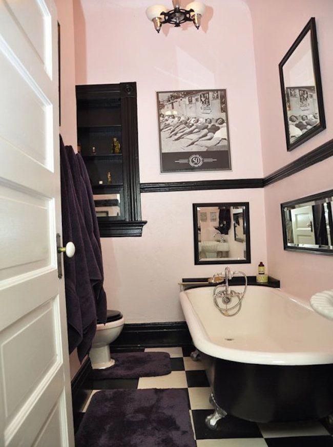 Grey And Black Bathroom Ideas Bathroom Design Black Retro Bathrooms Pink Bathroom