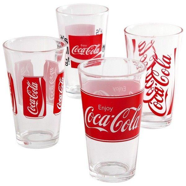 Coca Cola Plastic Tumbler Set Of 4 130 Sek Liked On Polyvore