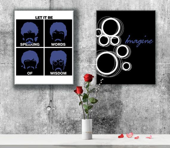 Music Lyric Art Print Imagine by John Lennon. Music like this can bring a tear to your eye, let you remember a loved one, or just make you want to