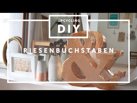 DIY.Riesen XXL 3D Buchstaben aus Pappe selber machen, how-to craft big letters, My Crafts and DIY